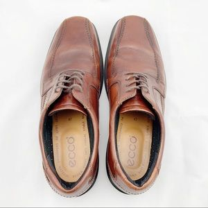 ECCO Brown Leather Lace up Oxfords or Derbys